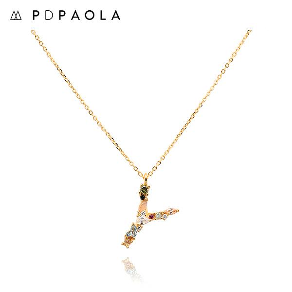 [피디파올라 PDPAOLA] CO01-120-U / LETTERS 컬렉션 이니셜 목걸이 Y 옐로우골드 컬러 타임메카