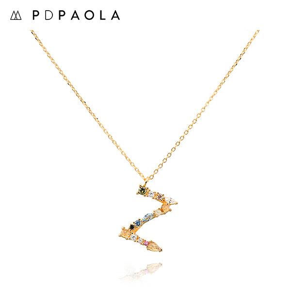 [피디파올라 PDPAOLA] CO01-121-U / LETTERS 컬렉션 이니셜 목걸이 Z 옐로우골드 컬러 타임메카