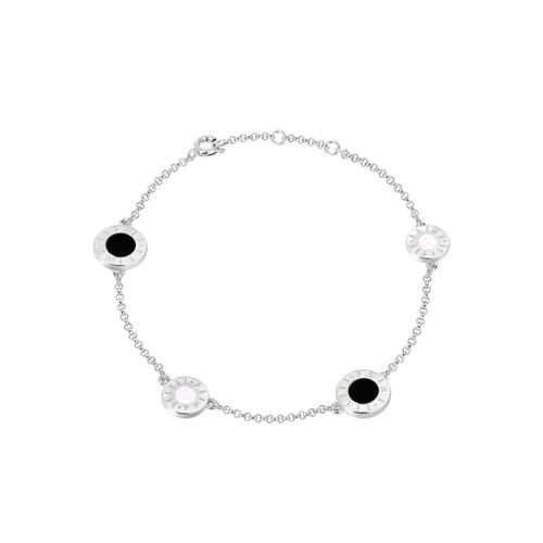 [프리마 클라쎄 쥬얼리 PRIMA CLASSE] MHJ17090006-R00  Black & White Stone Color 팔찌