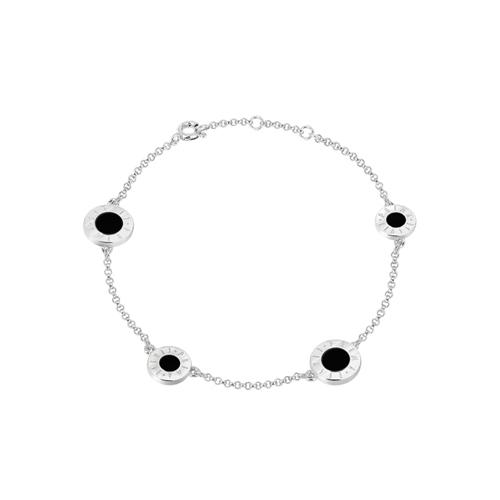 얼마줬스-) [프리마 클라쎄 쥬얼리 PRIMA CLASSE] MHJ17090006-R01 Silver & BLACK Stone Color 팔찌