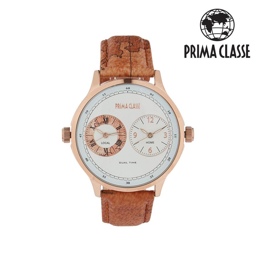 [프리마 클라쎄 PRIMA CLASSE] PCL19028M_D/RW 브라운 남성용 가죽시계 42mmx48mm 타임메카