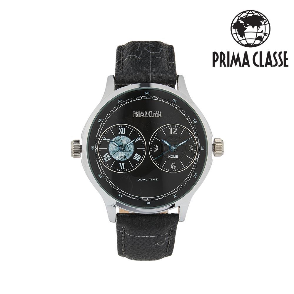 [프리마 클라쎄 PRIMA CLASSE] PCL19028M_Z/SZ 블랙 남성용 가죽시계 42mmx48mm 타임메카