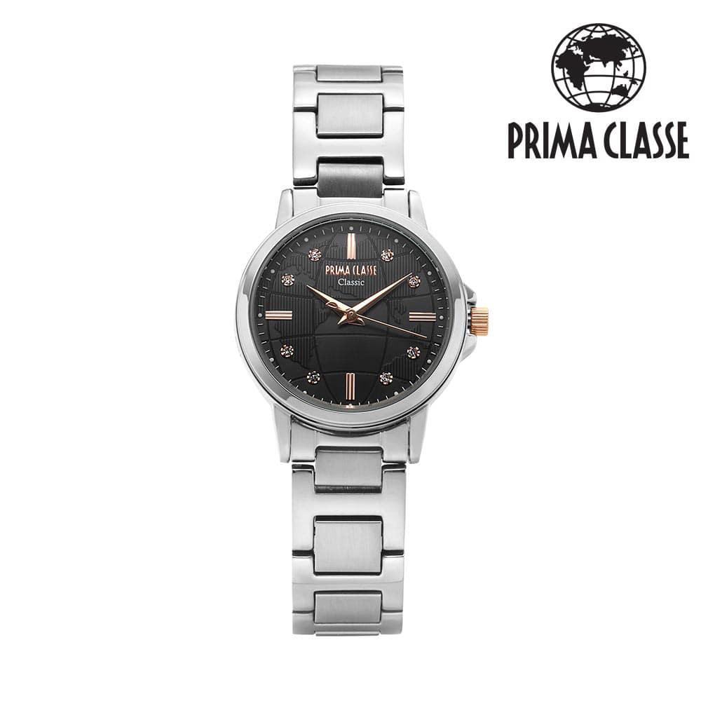 [프리마 클라쎄 PRIMA CLASSE] PCM19021L_BK 블랙 여성용 메탈시계 29mmx34mm 타임메카
