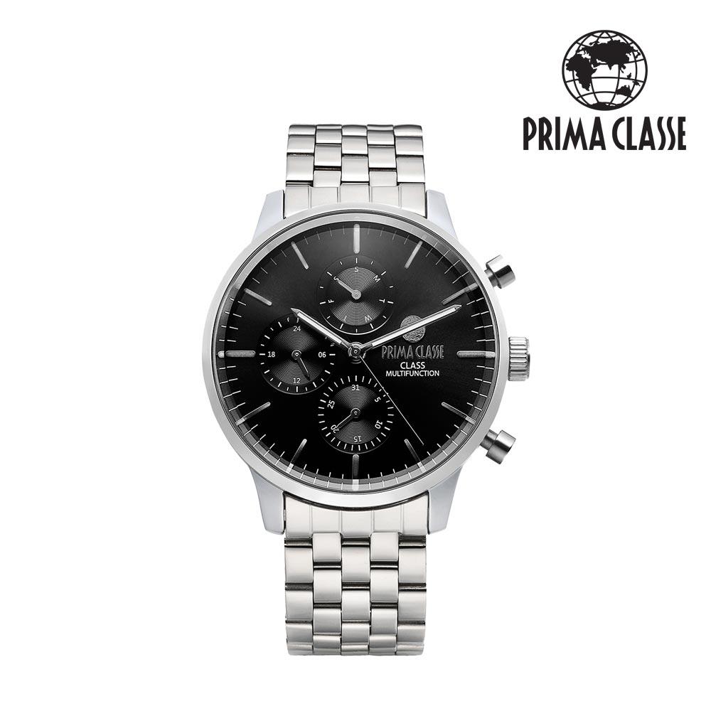 [프리마 클라쎄 PRIMA CLASSE] PCM19029M_BK 블랙 남성용 메탈시계 42.5mmx50.5mm 타임메카