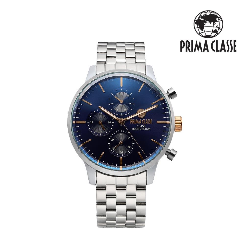[프리마 클라쎄 PRIMA CLASSE] PCM19029M_BU 블루 남성용 메탈시계 42.5mmx50.5mm 타임메카