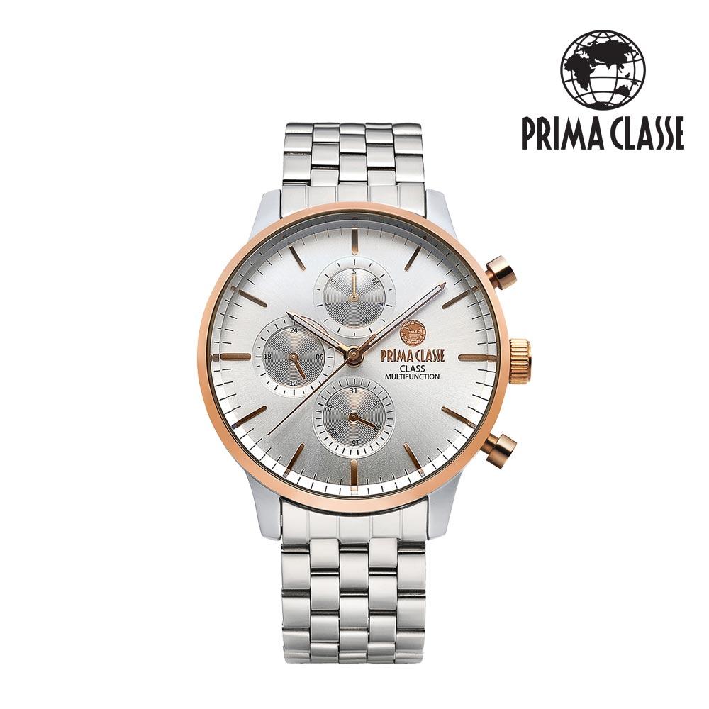[프리마 클라쎄 PRIMA CLASSE] PCM19029M_CR 로즈콤비 남성용 메탈시계 42.5mmx50.5mm 타임메카