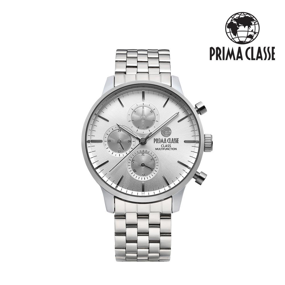 [프리마 클라쎄 PRIMA CLASSE] PCM19029M_SW 실버 남성용 메탈시계 42.5mmx50.5mm 타임메카