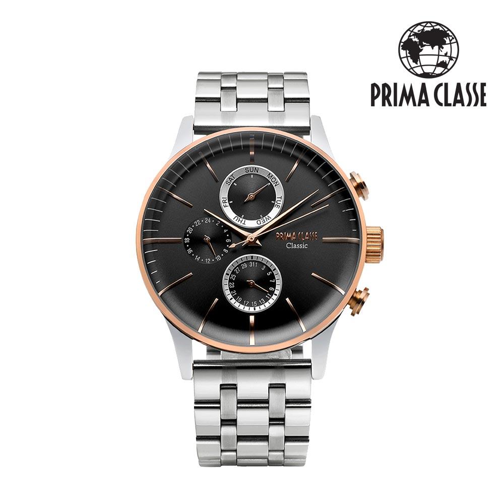 [프리마 클라쎄 PRIMA CLASSE] PCM19030M_BK 블랙 남성용 가죽시계 42.5mmx50.5mm 타임메카