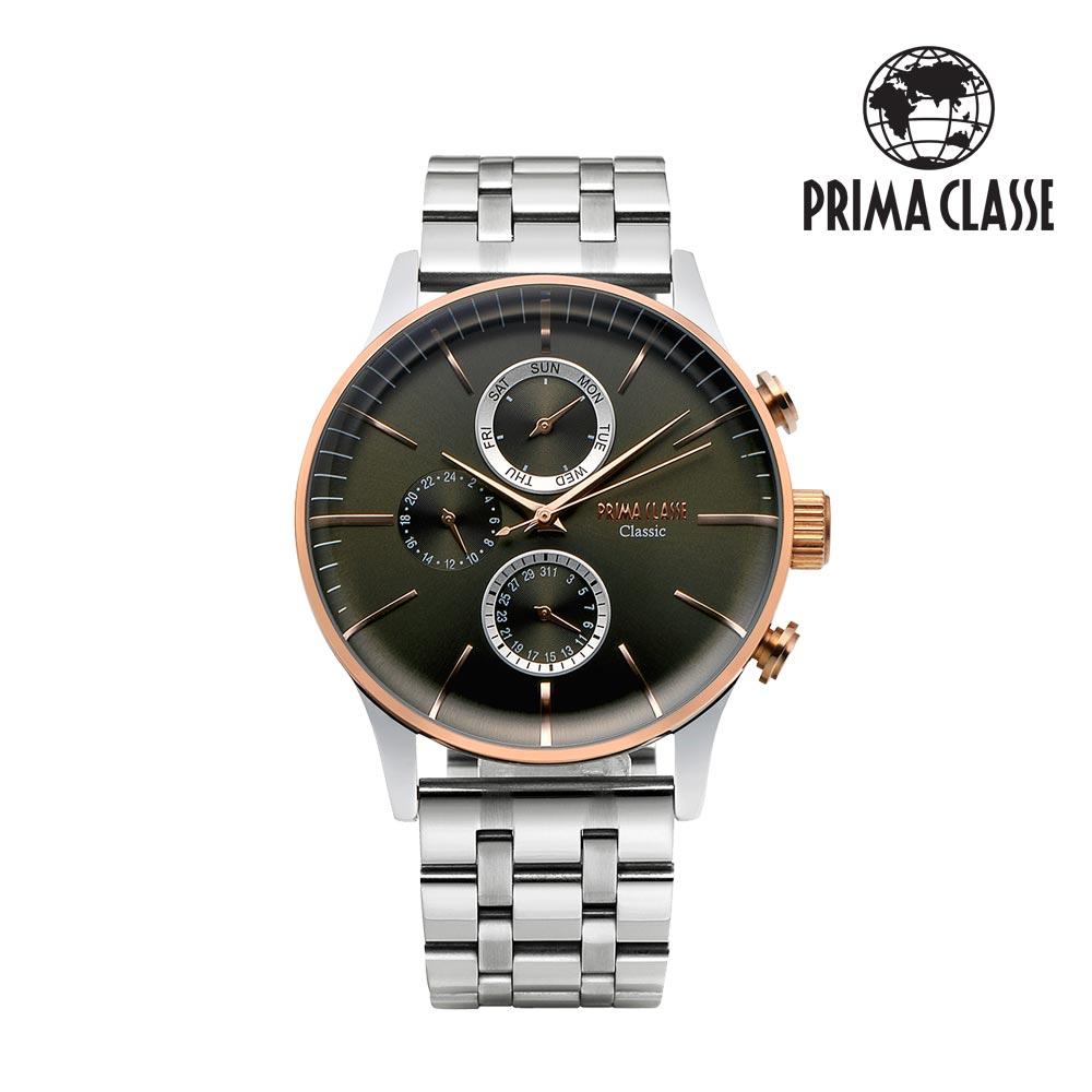 [프리마 클라쎄 PRIMA CLASSE] PCM19030M_GN 그린 남성용 가죽시계 42.5mmx50.5mm 타임메카