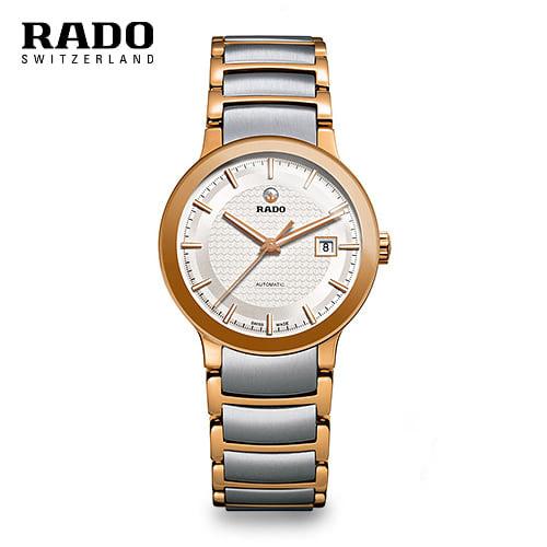 [라도 RADO] R30954123 / Centrix Rose Gold Two tone Automatic 여성용(구입문의시 고객센터로 부탁드립니다.)