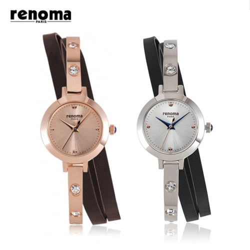 [레노마시계 RENOMA] RE445 메탈 여성시계+가죽밴드 [한국본사정품]