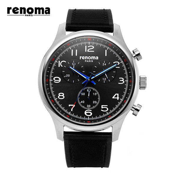 ☆-) [레노마시계 RENOMA] RE490-MBB 가죽 시계 [한국본사정품]