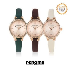 [레노마시계 RENOMA] RE495 여성 가죽 시계