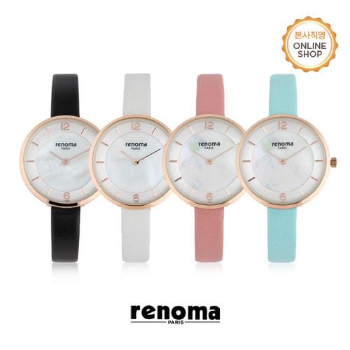 [레노마시계 RENOMA] RE525 여성 가죽 시계