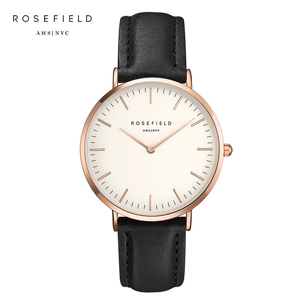 [로제필드 ROSEFIELD] BWBLR-B1 The Bowery White Black Rose gold 여성 손목시계 38mm