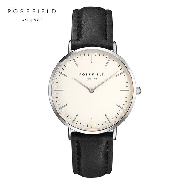 [로제필드 ROSEFIELD] BWBLS-B2 The Bowery White Black Silver 여성 손목시계 38mm