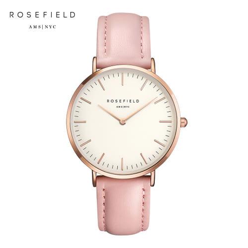 [로제필드 ROSEFIELD] BWPR-B7 The Bowery_White_Pink_Rosegold 보워리 화이트/핑크/로즈골드 38mm