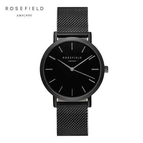 [로제필드 ROSEFIELD] MBB-M43 The Mercer_Black_Black 머서 블랙/블랙 38mm