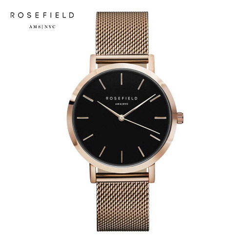 [로제필드 ROSEFIELD] MBR-M45 The Mercer_Black_Rosegold 머서 블랙/로즈골드 38mm