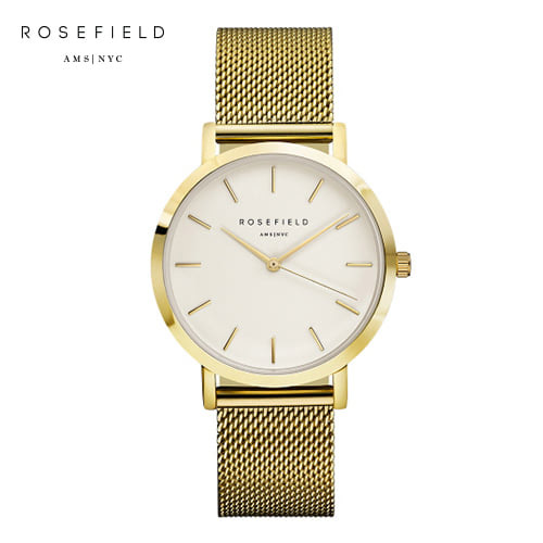 [로제필드 ROSEFIELD] MWG-M41 The Mercer_White_Gold 머서 화이트/골드 38mm