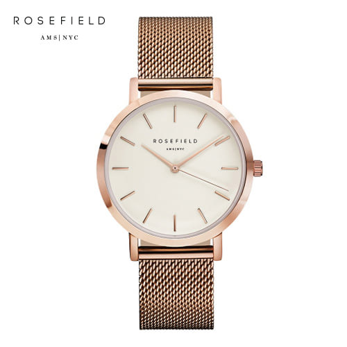 [로제필드 ROSEFIELD] MWR-M42 The Mercer_White_Rosegold 머서 화이트/로즈골드 38mm