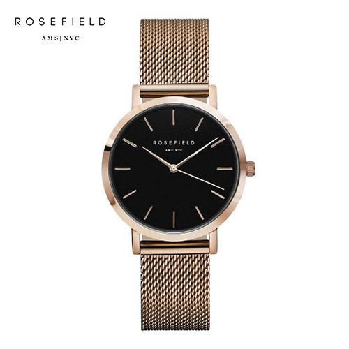 [로제필드 ROSEFIELD] TBR-T59 The Tribeca_Black Rosegold 트리베카 블랙/로즈골드 33mm