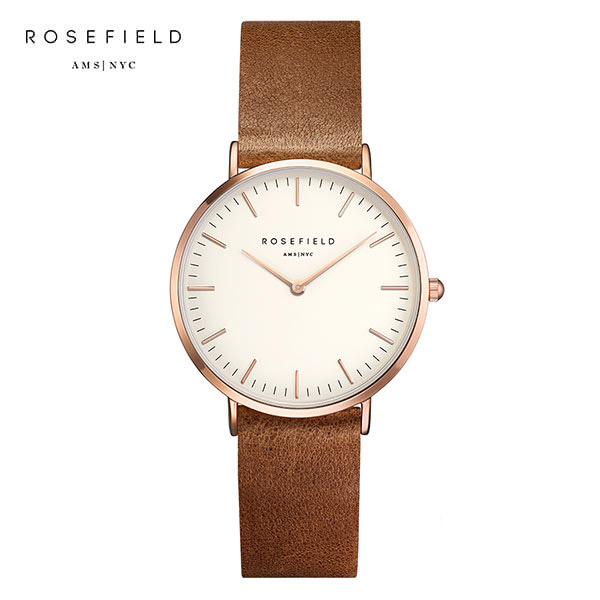 [로제필드 ROSEFIELD] TWBRRC-T55 The Tribeca White Brown Rosegold 여성 손목시계