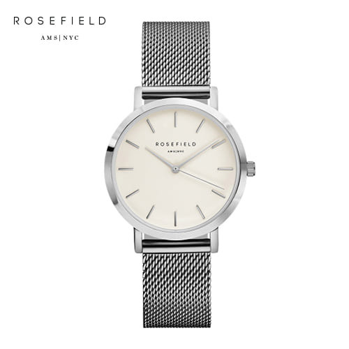 [로제필드 ROSEFIELD] TWS-T52 The Tribeca_White_Silver 트리베카 화이트/실버 33mm