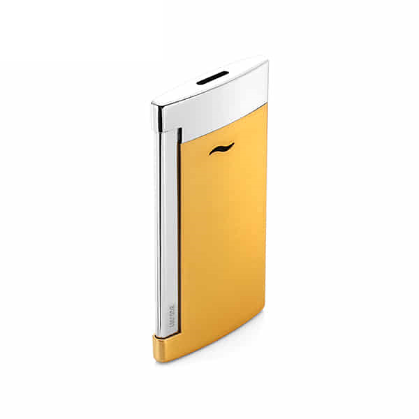 [듀퐁 S.T.DUPONT] 27703 / 슬림7 옐로우 골드 Slim7 Brushed Gold Chrome Finish Lighter