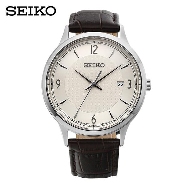 [세이코 SEIKO] SGEH83P1 / 클래식 남성용 가죽시계 42mm