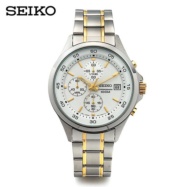[세이코 SEIKO] SKS479P1 / 크로노그래프 남성 메탈시계 43mm