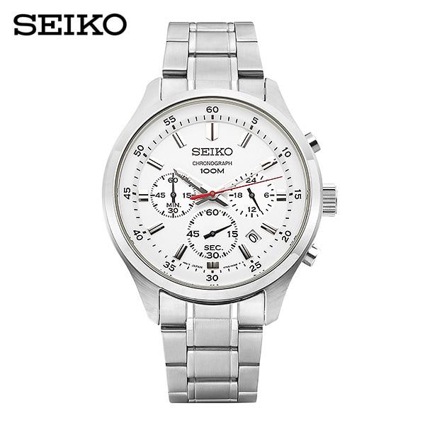 [세이코 SEIKO] SKS583P1 / 크로노그래프 남성용 메탈시계 43mm