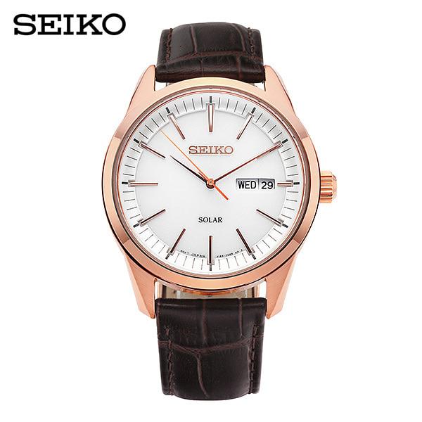[세이코 SEIKO] SNE530P1 / 컨셉츄얼 Conceptual 솔라 남성용 가죽시계 40mm