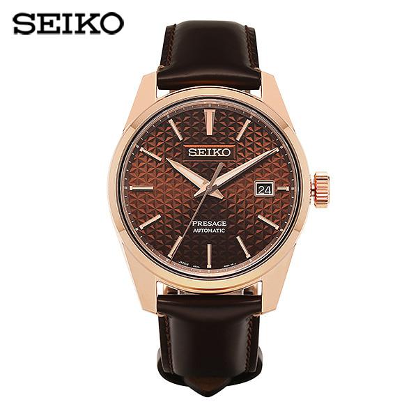 [세이코 SEIKO] SPB170J1 (SARX080) / 프레사지 Presage 샤프엣지 브라운 오토매틱 남성 가죽시계 40mm 타임메카