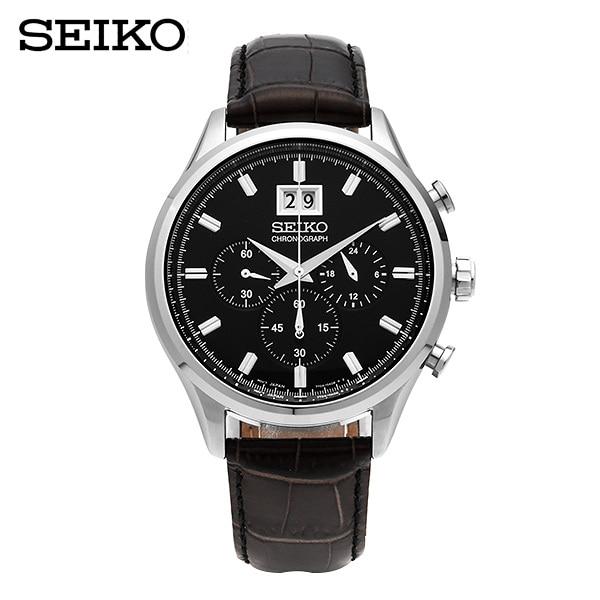 ★-) [세이코 SEIKO] SPC083P2 크로노그래프 가죽시계 42mm