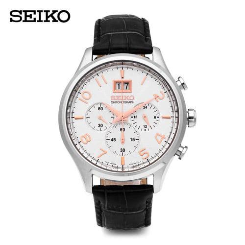[세이코 SEIKO] SPC087P1 / 크로노그래프 남성 가죽시계 42mm