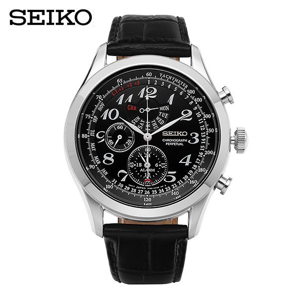 [세이코 SEIKO] SPC133P1 / 43mm크로노그래프 가죽시계