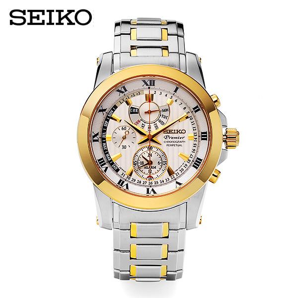 [세이코 SEIKO] SPC162P1 / 프리미어 크로노 퍼페츄얼 (Premier Chronograph Perpetual) 41mm