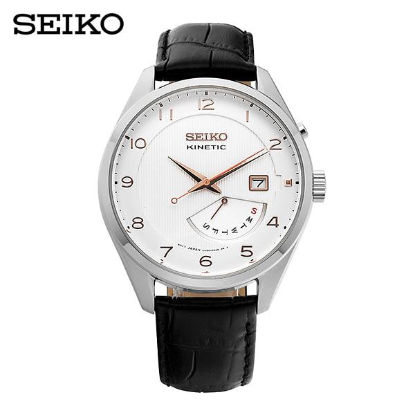 [세이코 SEIKO] SRN049P1 / 키네틱 남성 가죽시계 42mm