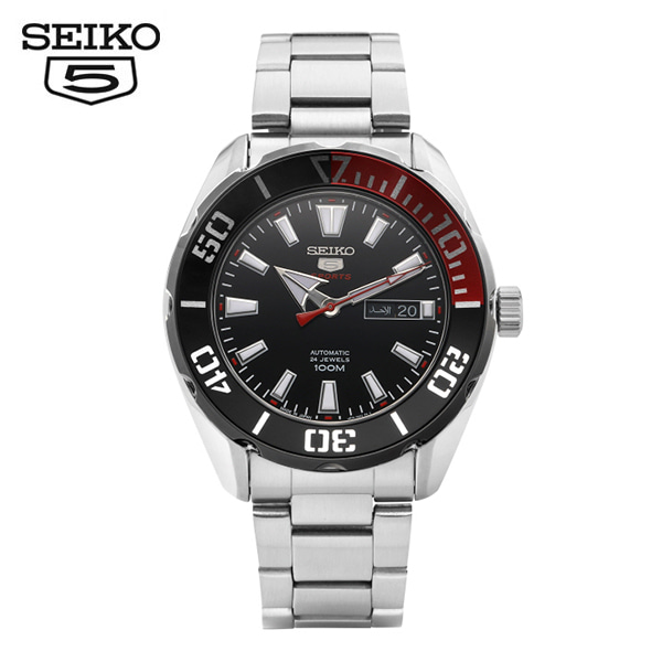 [세이코5시계 SEIKO5] SRPC57K1 / SRPC57K 스포츠 오토매틱 남성용 메탈시계 45mm 타임메카
