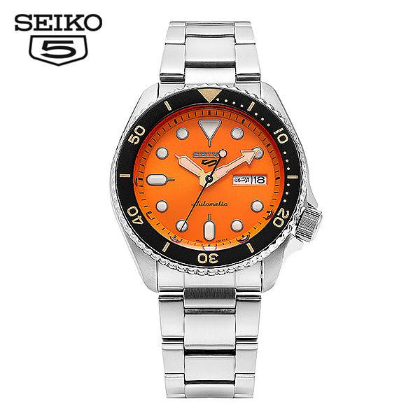 [세이코5시계 SEIKO5] SRPD59K1 / SRPD59K 스모 다이버 신형 오렌지 오토매틱 남성용 메탈시계 42.5mm 타임메카