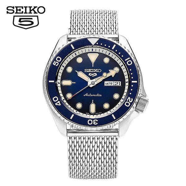 [세이코5시계 SEIKO5] SRPD71K1 / SRPD71K 다이버 신형 블루 오토매틱 남성용 메쉬밴드 메탈시계 42.5mm 타임메카