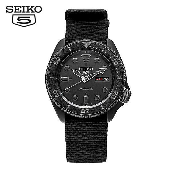 [세이코5시계 SEIKO5] SRPD79K1 / SRPD79K 다이버 신형 올블랙 오토매틱 남성용 나토밴드시계 42.5mm 타임메카
