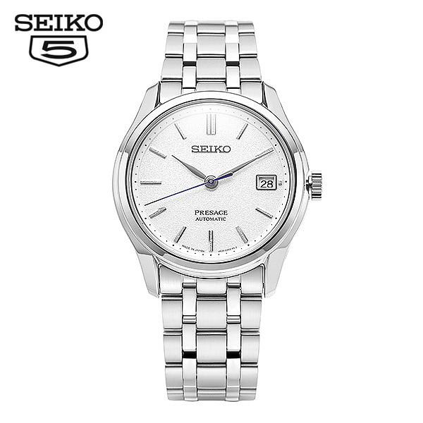[세이코 SEIKO] SRPD97J1 / 프레사지 Presage 흰판 오토매틱 남성용 메탈시계 38mm 타임메카