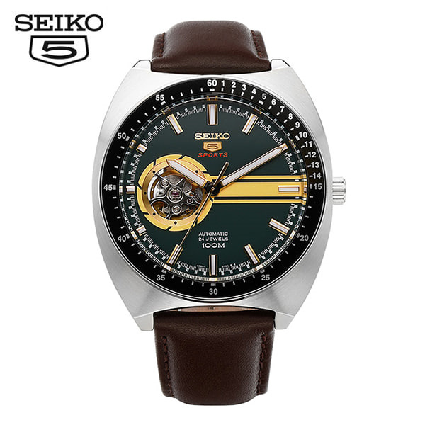 [세이코5 SEIKO5] SSA333K1 Sports Retro Open Heart Automatic 44mm