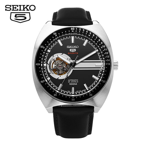 [세이코5 SEIKO5] SSA335K1 Sports Retro Open Heart Automatic 44mm