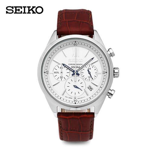 ☆-) [세이코 SEIKO] SSB157P1 / 크로노그래프 남성 가죽시계 41mm