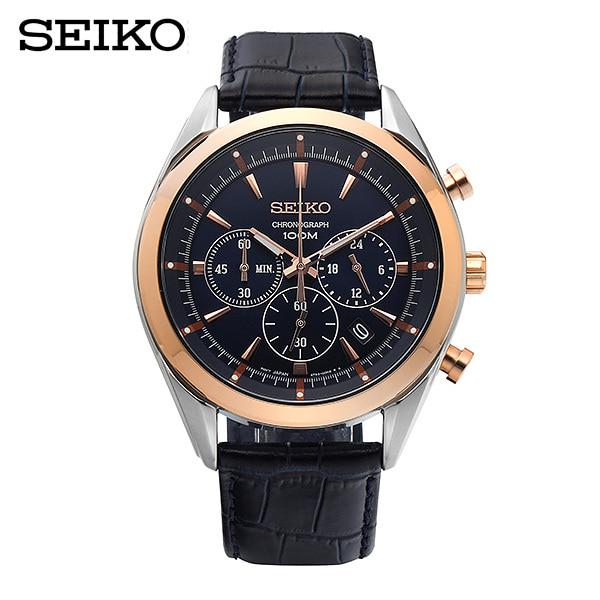 [세이코 SEIKO] SSB160P1 / 크로노그래프 Chronograph 가죽시계 45mm