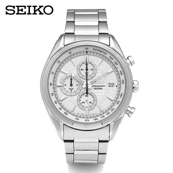 [세이코 SEIKO] SSB173P1 / 크로노그래프 남성 메탈 시계 45mm