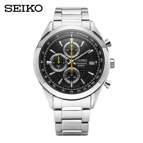 [세이코 SEIKO] SSB175P1 / 크로노그래프 남성 메탈 시계 45mm